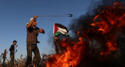 63 Palestinians injured in clashes with Israeli soldiers in eastern Gaza